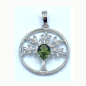 Moldavite Tree of Life Pendant