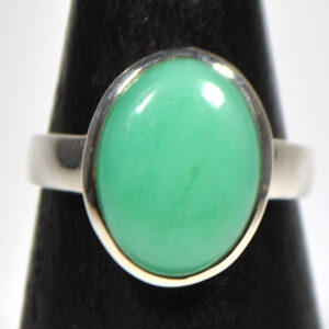 Chrysoprase Ring Size 8