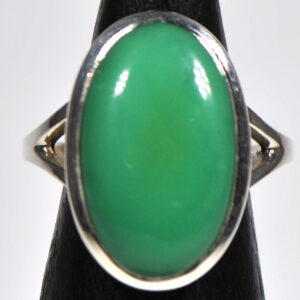 Chrysoprase Ring Size 8.5