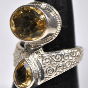 Citrine Sterling Silver Ring Size 8.25